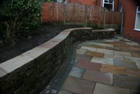 Stone walling and paving in Belmont