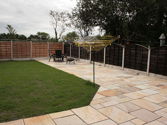 Large Indian Sandstone Patio West Manchester Landscaping