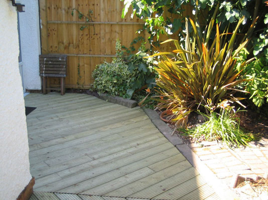 A selection of small decking jobs west manchester for Gardening jobs manchester